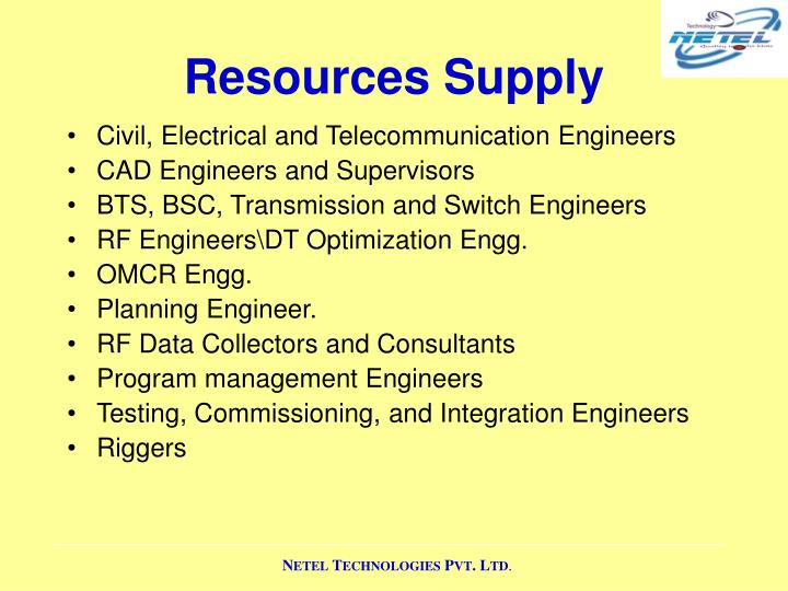 Resources Supply