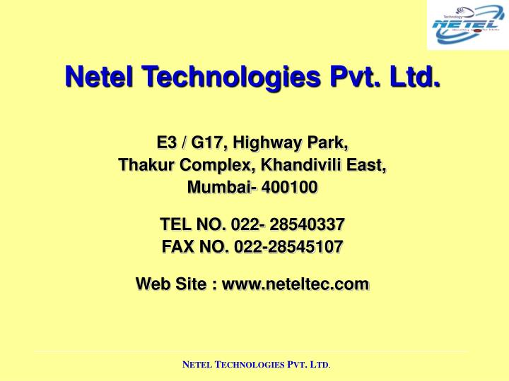 Netel Technologies Pvt. Ltd.
