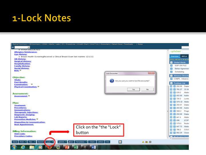 1-Lock Notes