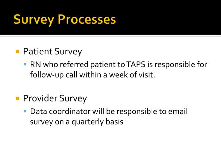 Survey Processes