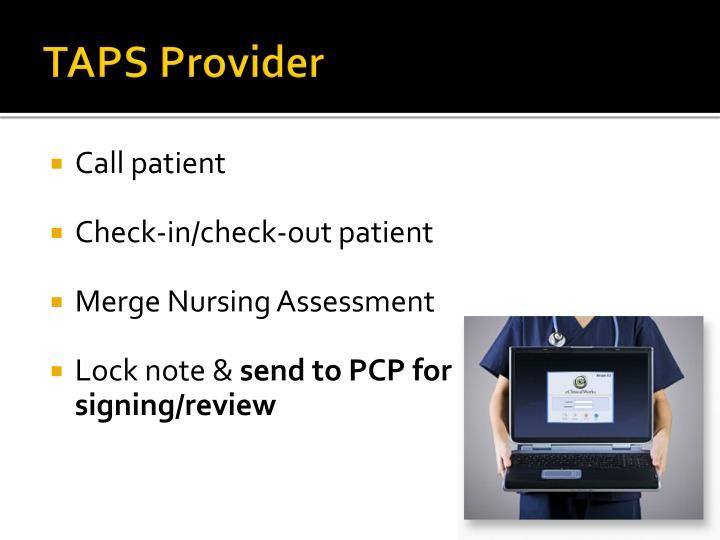 TAPS Provider