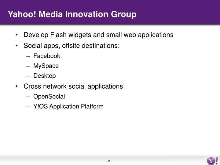 Yahoo! Media Innovation Group