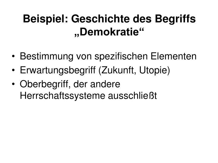 """Beispiel: Geschichte des Begriffs """"Demokratie"""""""