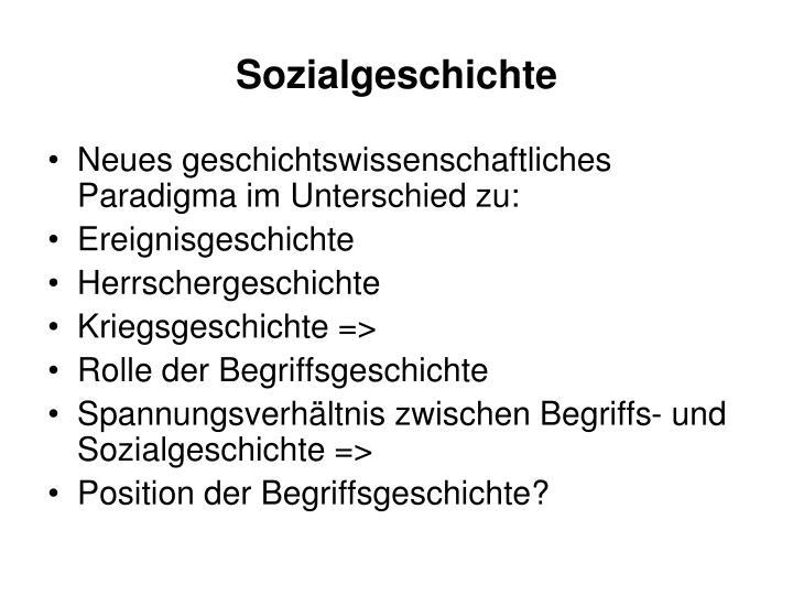 Sozialgeschichte