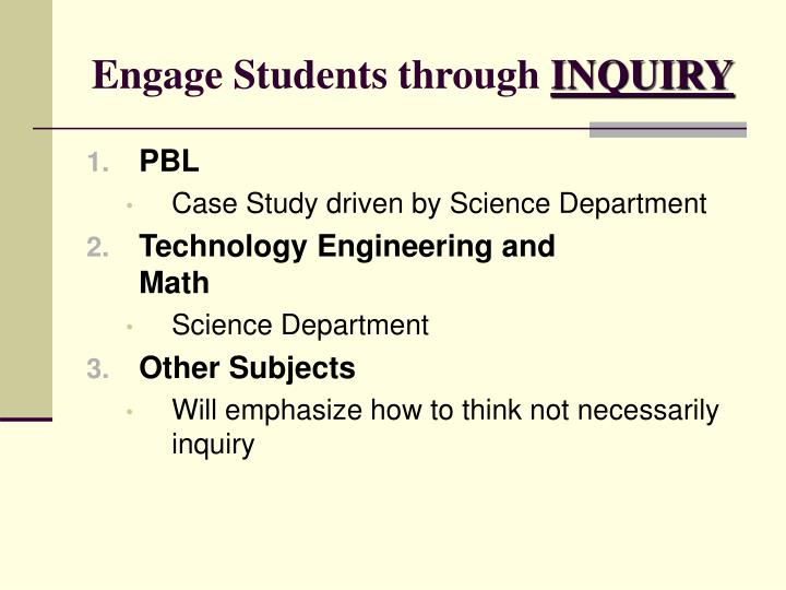 Engage Students through