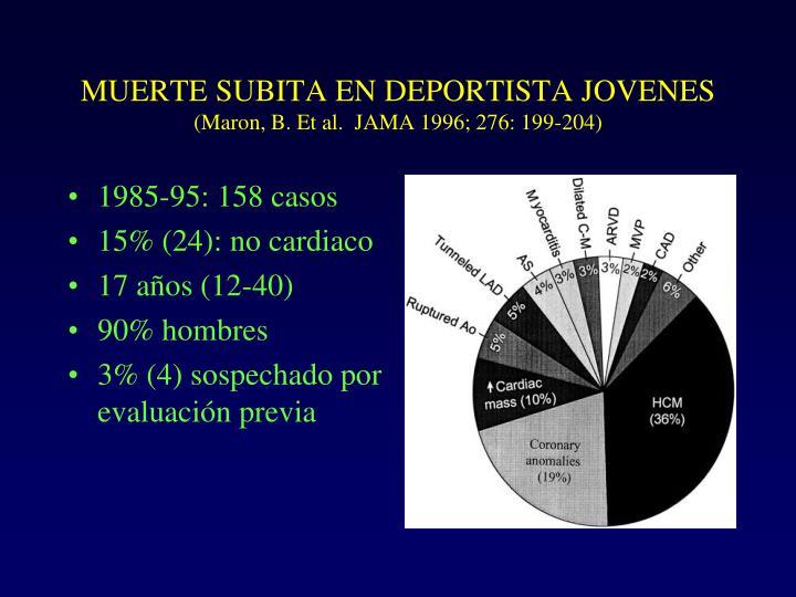 MUERTE SUBITA EN DEPORTISTA JOVENES