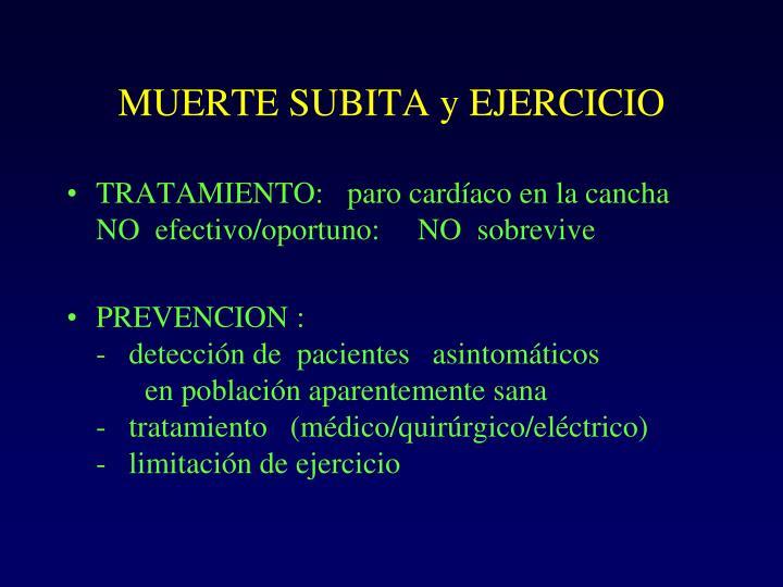 MUERTE SUBITA y EJERCICIO