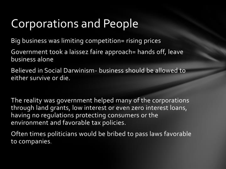 Corporations and People