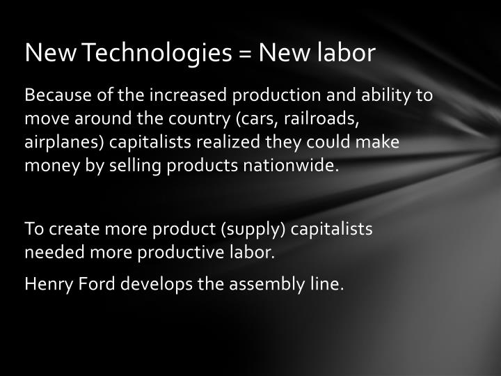 New Technologies = New labor