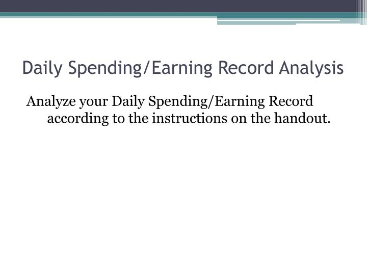 Daily Spending/Earning Record Analysis