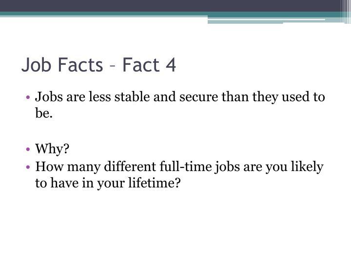 Job Facts – Fact 4