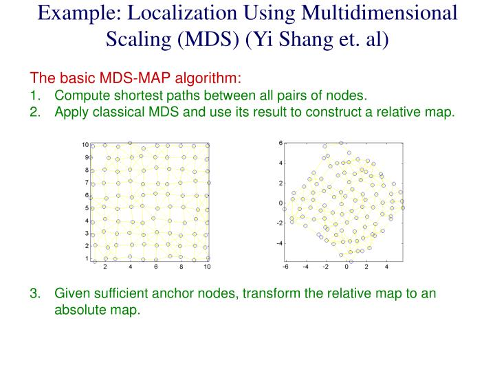 Example: Localization Using Multidimensional Scaling (MDS) (Yi Shang et. al)