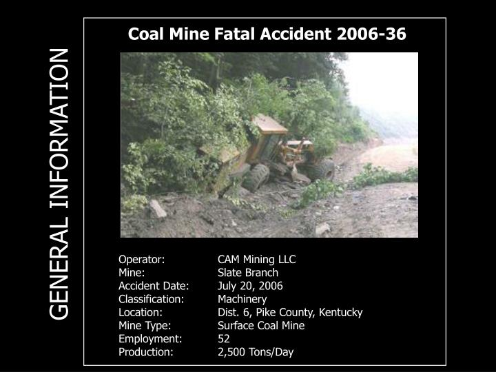 Coal Mine Fatal Accident 2006-36