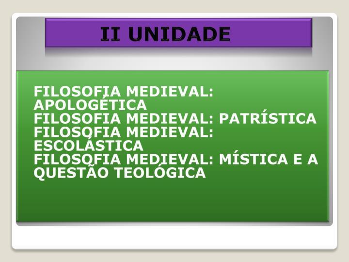 II UNIDADE
