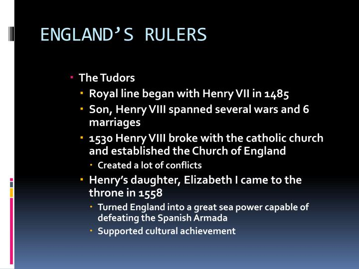 ENGLAND'S RULERS