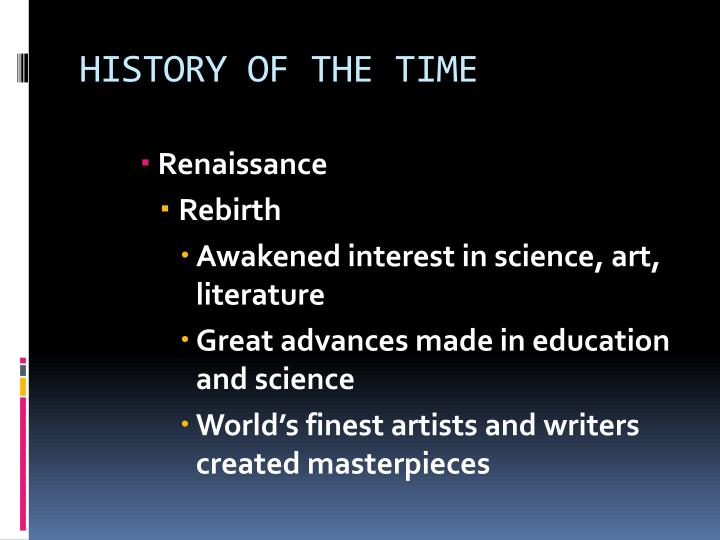 History of the time1