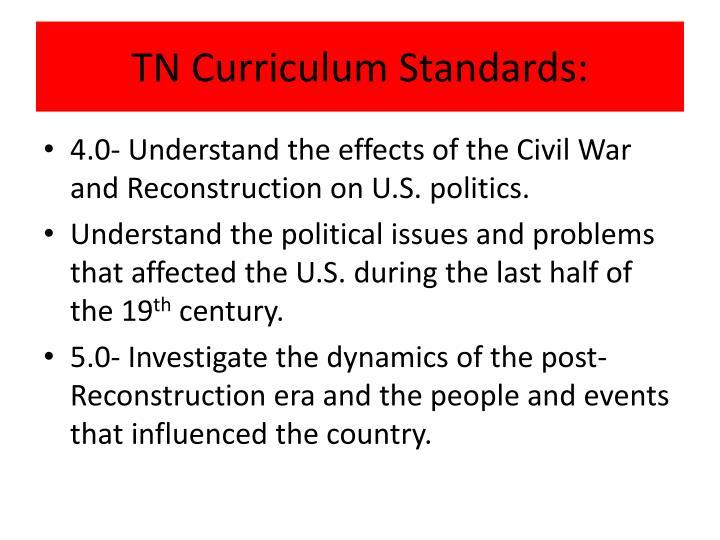 TN Curriculum Standards: