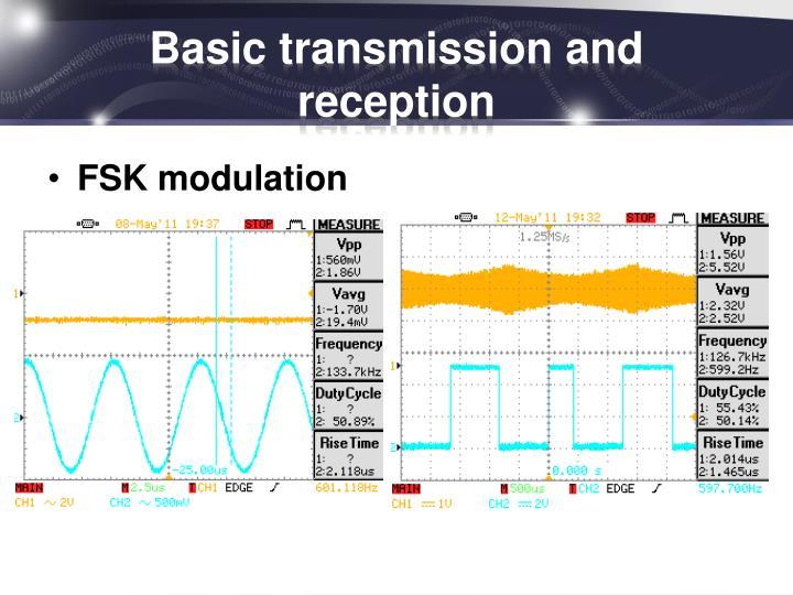 Basic transmission and reception