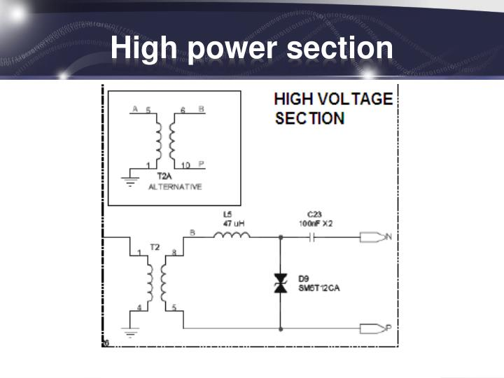 High power section