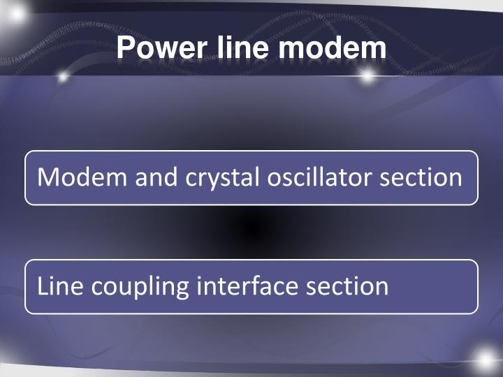Power line modem