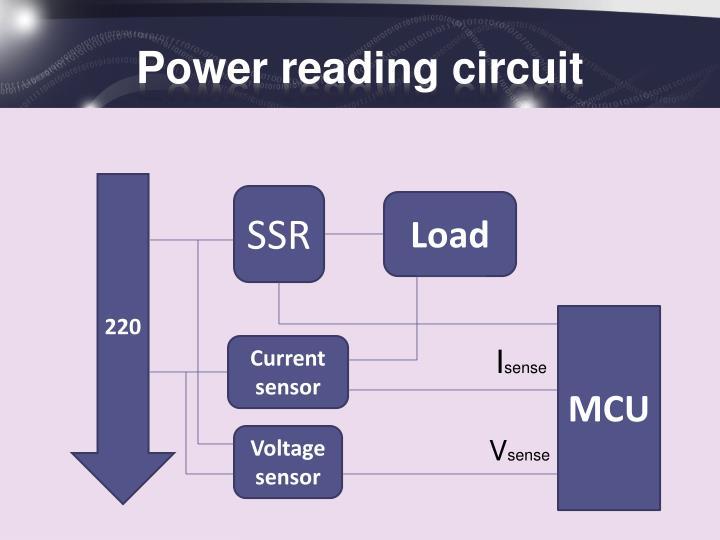 Power reading circuit
