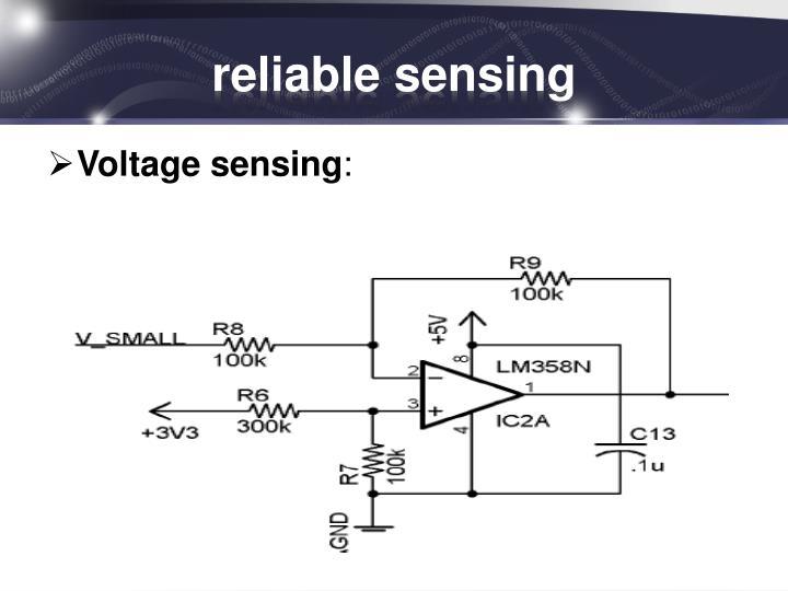 reliable sensing