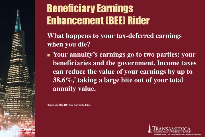 Beneficiary Earnings