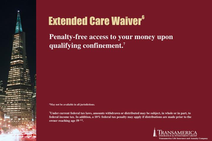 Extended Care Waiver