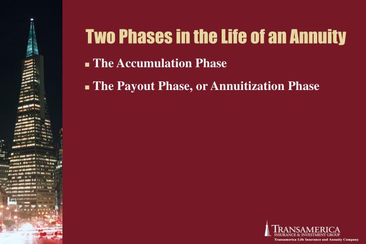 Two Phases in the Life of an Annuity
