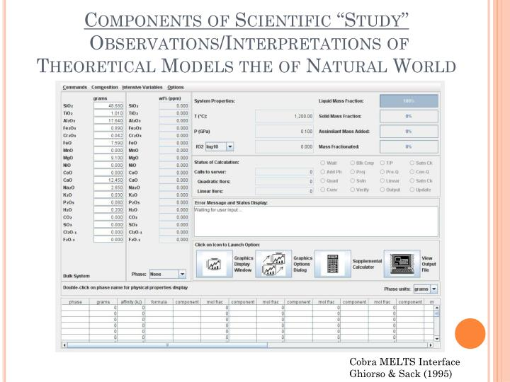 "Components of Scientific ""Study"""