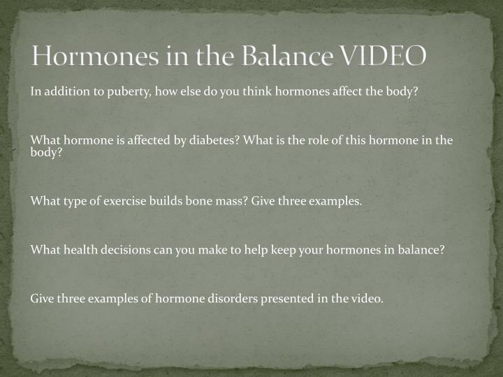 Hormones in the Balance VIDEO