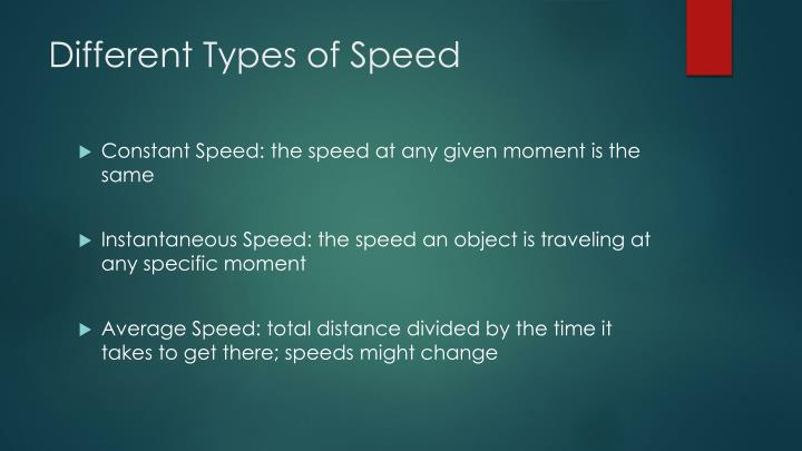 Different Types of Speed