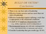 bully or victim conclusions