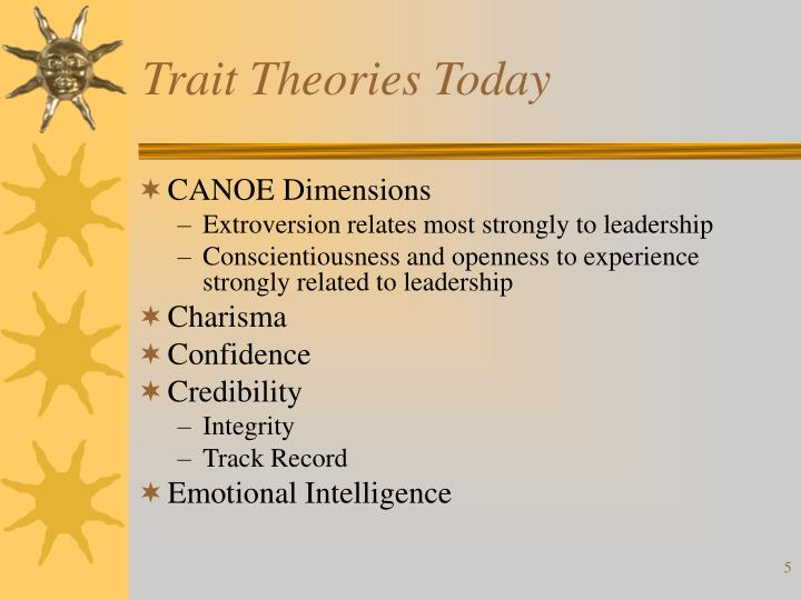 Trait Theories Today