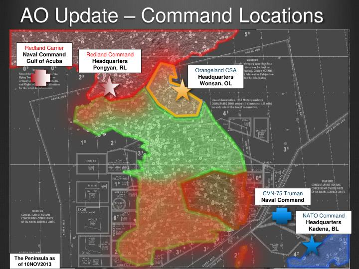 AO Update – Command Locations