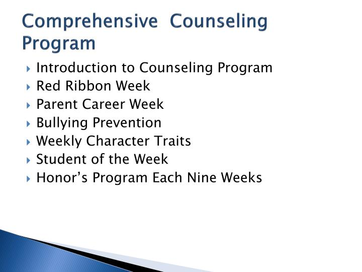 Comprehensive  Counseling Program