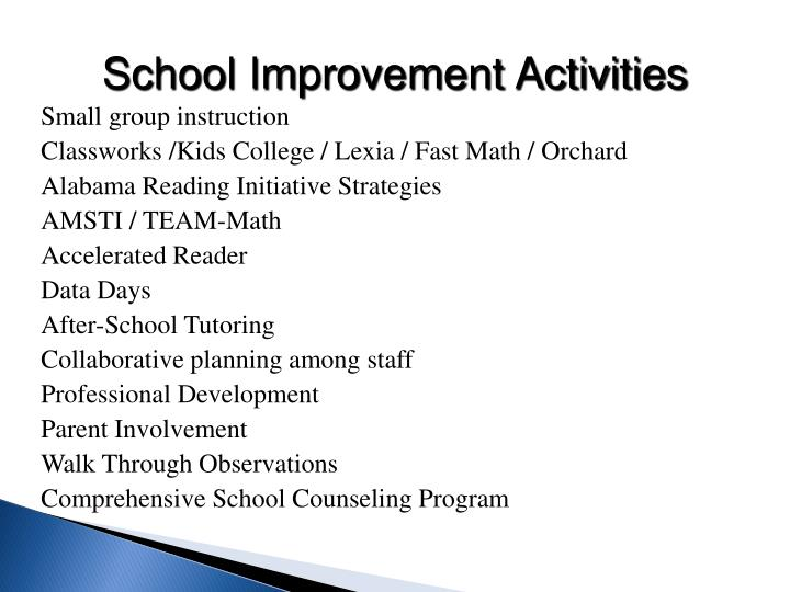 School Improvement Activities