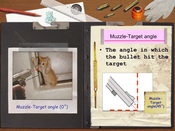 Muzzle-Target angle (0˚)