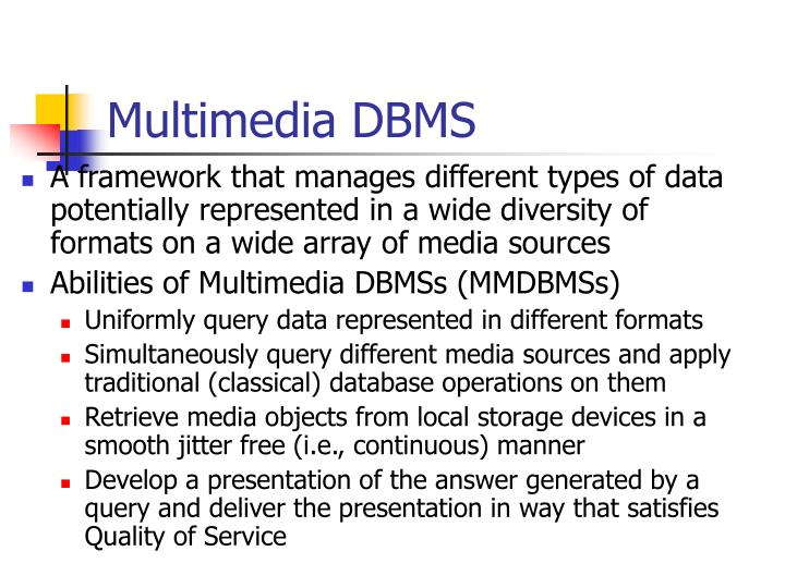 Multimedia DBMS