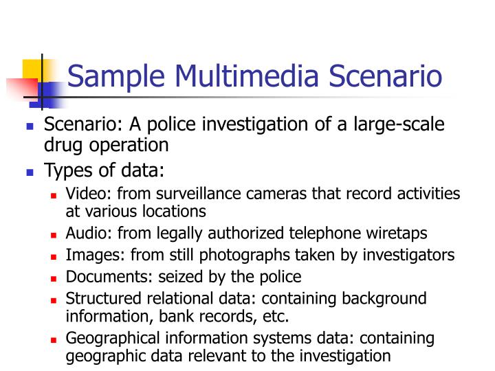 Sample Multimedia Scenario