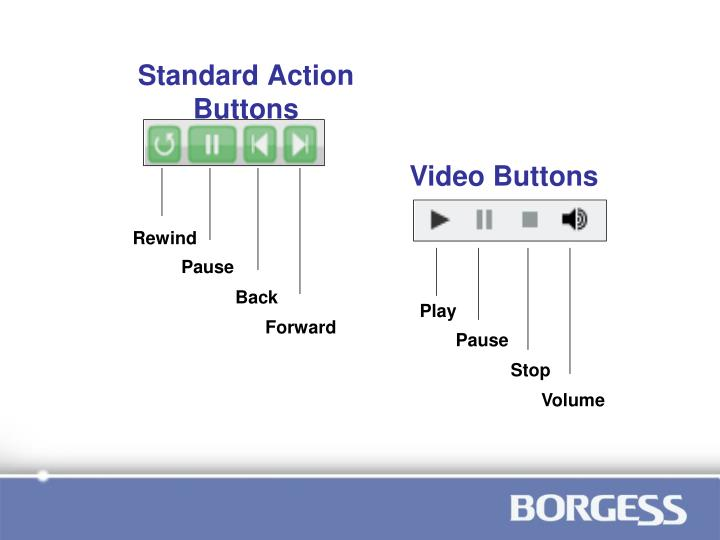Standard action buttons