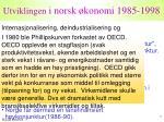 utviklingen i norsk konomi 1985 1998