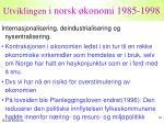 utviklingen i norsk konomi 1985 19982