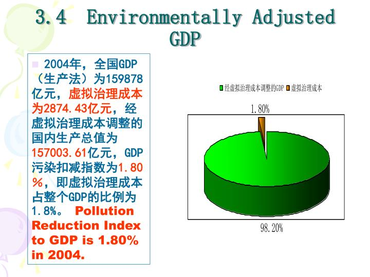 3.4  Environmentally Adjusted GDP