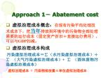 approach 1 abatement cost