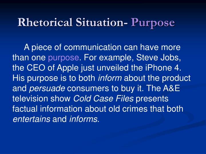 Rhetorical Situation-