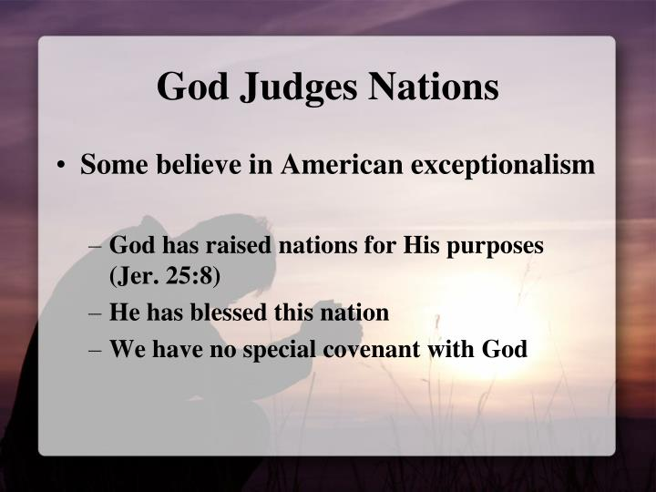 God Judges Nations