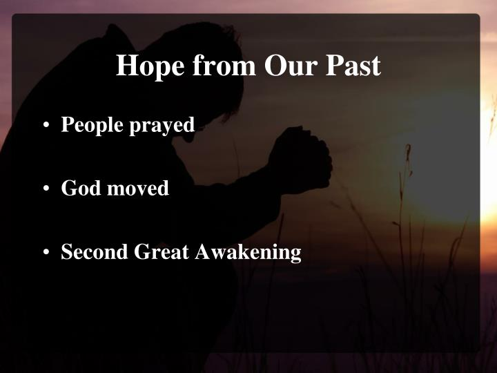 Hope from Our Past