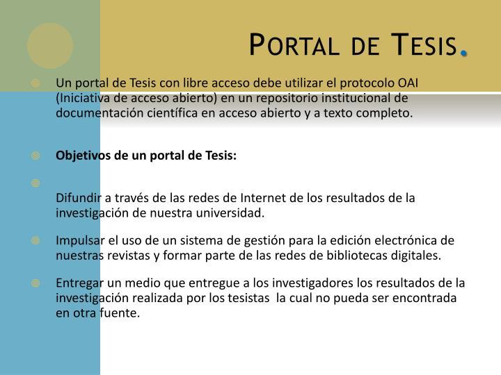 Portal de Tesis