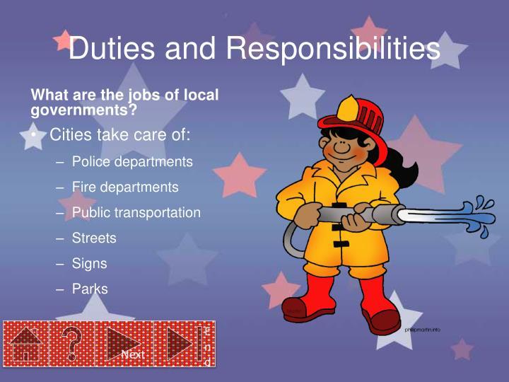 Duties and Responsibilities